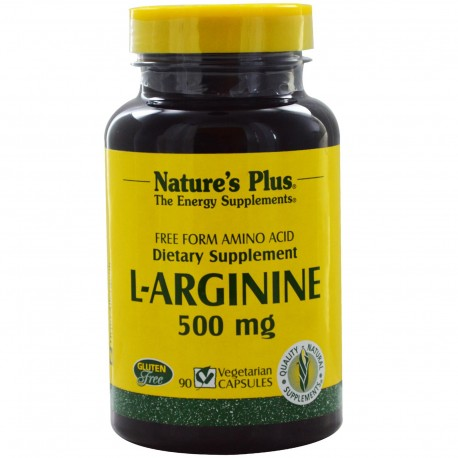 Nature's Plus L-Arginine 500 mg 90 Veggie Capsules