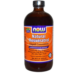 Now Foods Natural Resveratrol Liquid Concentrate 473 ml 16 fl oz