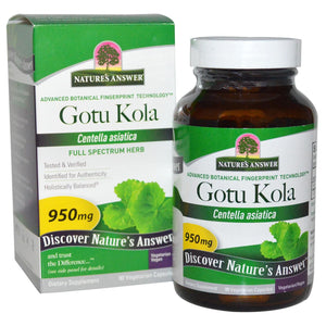 Nature's Answer Gotu Kola 950 mg 90 Veggie Capsules
