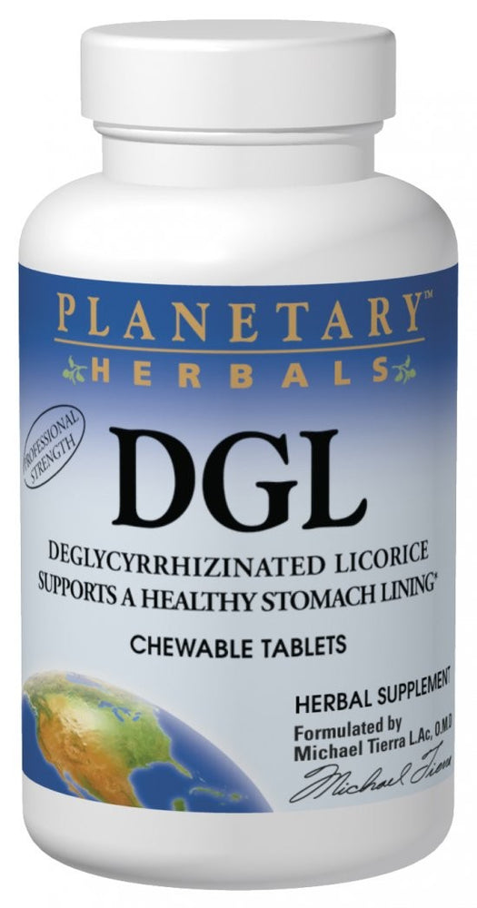 Planetary Herbals DGL Deglycyrrhizinated Licorice 200 Chewable Tablets
