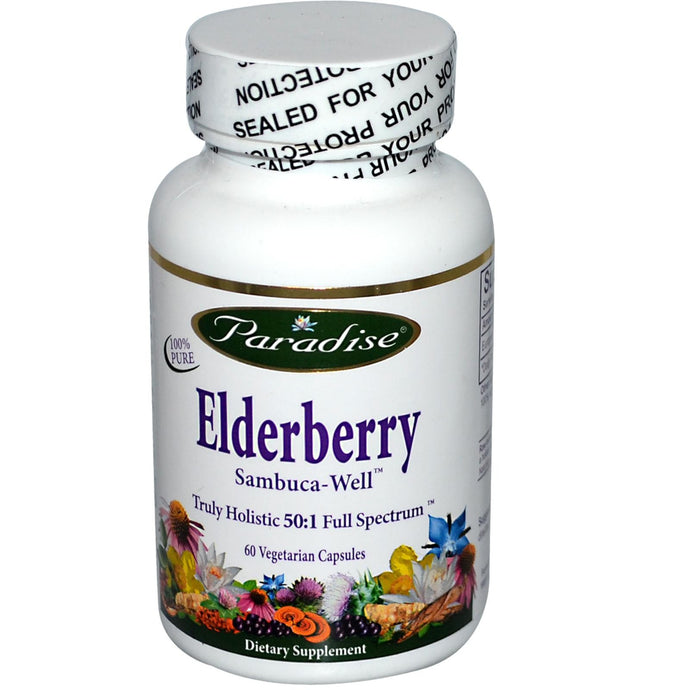 Paradise Herbs Elderberry 60 Veggie Capsules - Dietary Supplement