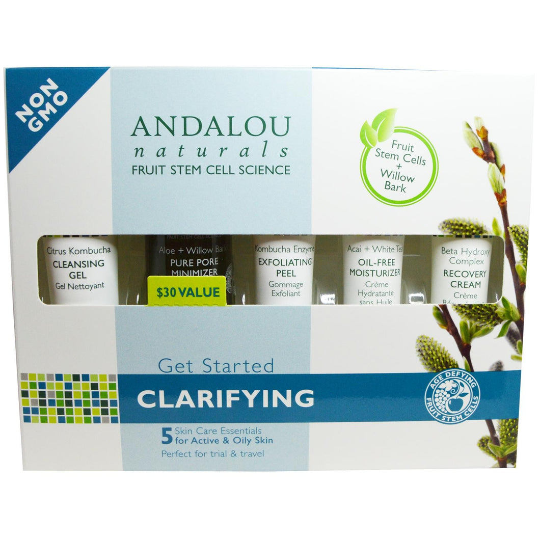 Andalou Naturals Clarifying Skin Care Essentials 5 Piece KIt