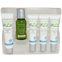 Load image into Gallery viewer, Andalou Naturals Clarifying Skin Care Essentials 5 Piece KIt