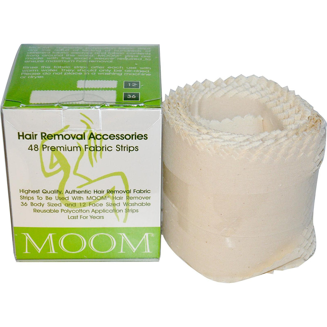 Moom Hair Removal Accessories Premium Fabric Strips 48 Strips