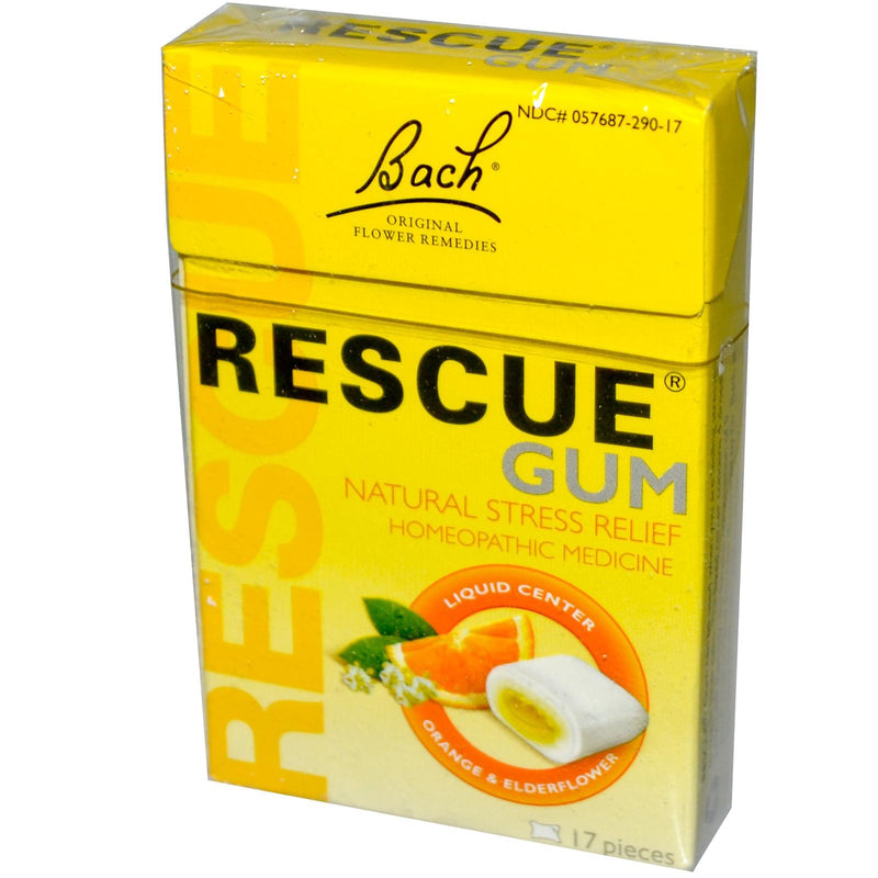 Bach Original Flower Essences Rescue Gum Orange & Elder Flower 17 Pieces
