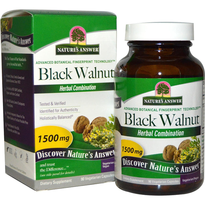 Nature's Answer Black Walnut Herbal Combination 1500 mg 90 Veggie Capsules