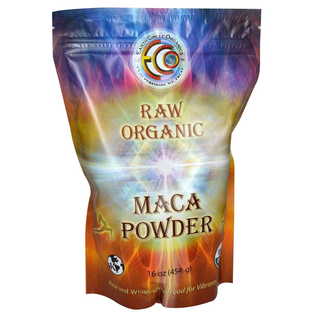 Earth Circle Organics, Raw Organic Maca Powder, 454 g, 16 oz