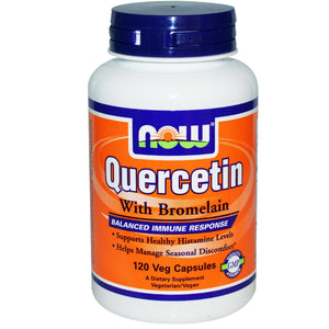Now Foods Quercetin with Bromelain 120 Vcaps High Potency