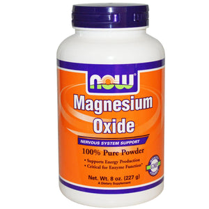 Now Foods Magnesium Oxide Powder 227gm - Dietary Supplement