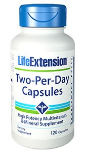 Life Extension Two- Per- Day Capsules 120 Capusles