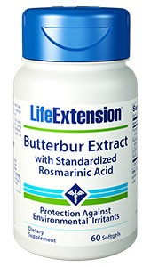 Life Extension Butterbur Extract with Rosmarinic Acid 60 Capsules