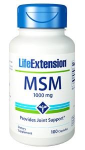 Life Extension MSM 1000mg 100 Capsules - Dietary Supplement
