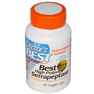 Doctor's Best High Potency Serrapeptase 120,000 SPU's 90 Veggie Caps