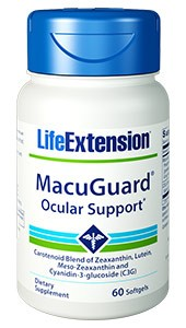 Life Extension MacuGuard Ocular Support with C3G 60 SoftGels