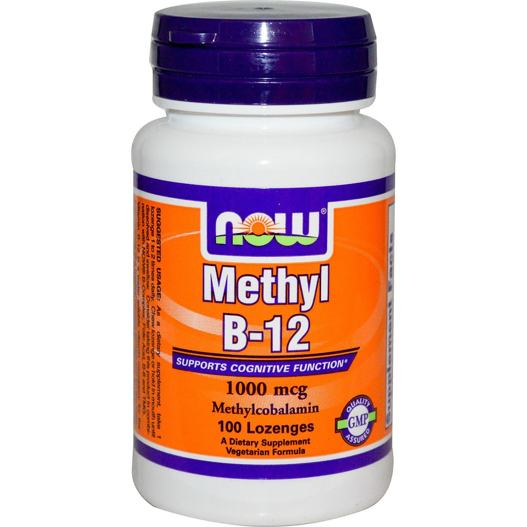 Now Foods Methyl B-12 1000mcg 100 Lozenges - Dietary Supplement