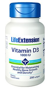 Life Extension Vitamin D3 1000 IU 250 Softgels - Dietary Supplement