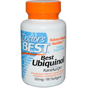 Doctor's Best Best Ubiquinol Featuring Kaneka's QH 50 mg 90 Softgels