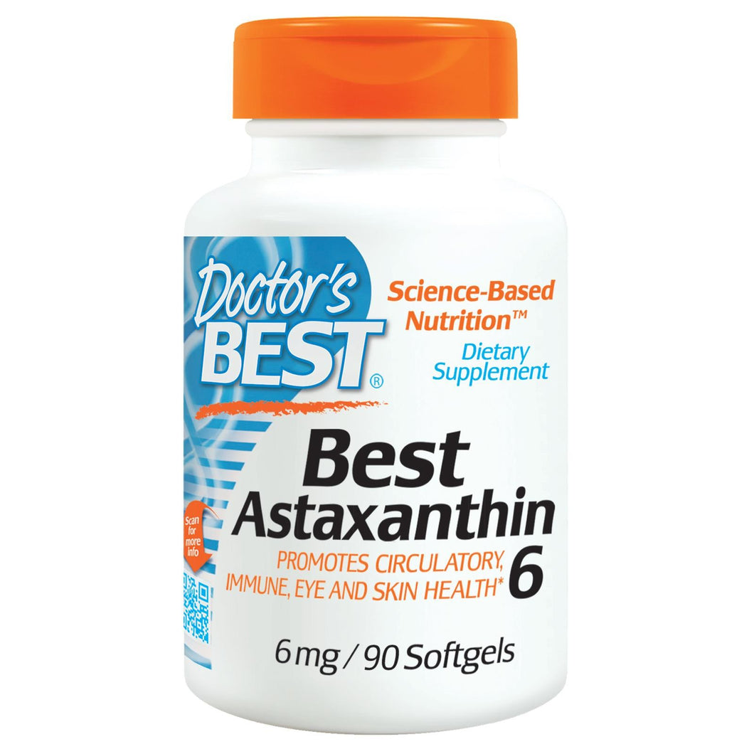 Doctor's Best Best Astaxanthin 6, 6mg, 90 Softgels