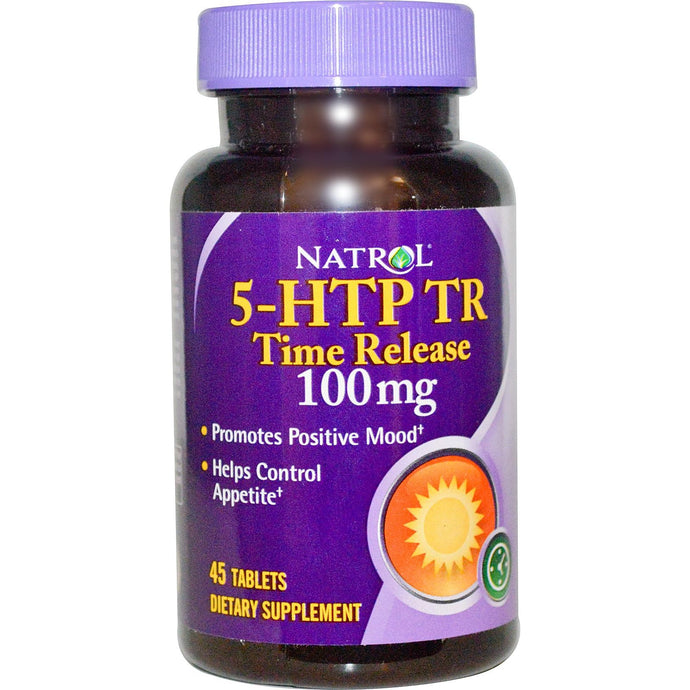Natrol 5-HTP TR Time Release 100 mg 45 Tablets - Dietary Supplement