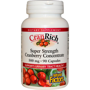 Natural Factors CranRich Super Strength Cranberry Extract 500mg 90 Capsules