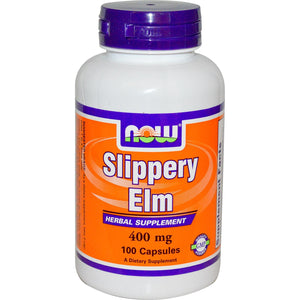 Now Foods Slippery Elm 400 mg 100 Capsules - Dietary Supplement