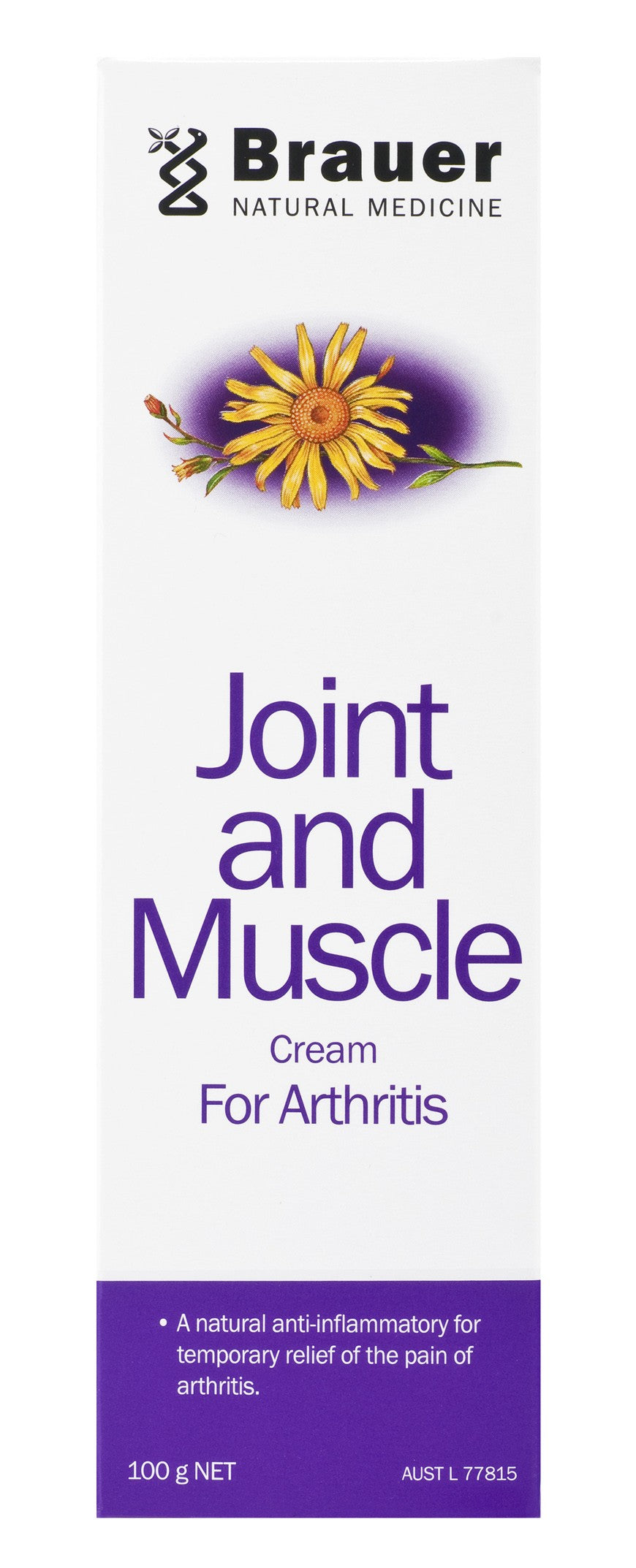 Brauer Natural Medicine, Arnicaeze, Joint & Muscle Cream, 100 g