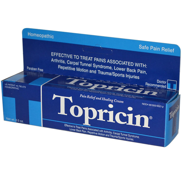 Topricin, Pain Relief & Healing Cream, 60g, 2.0 oz