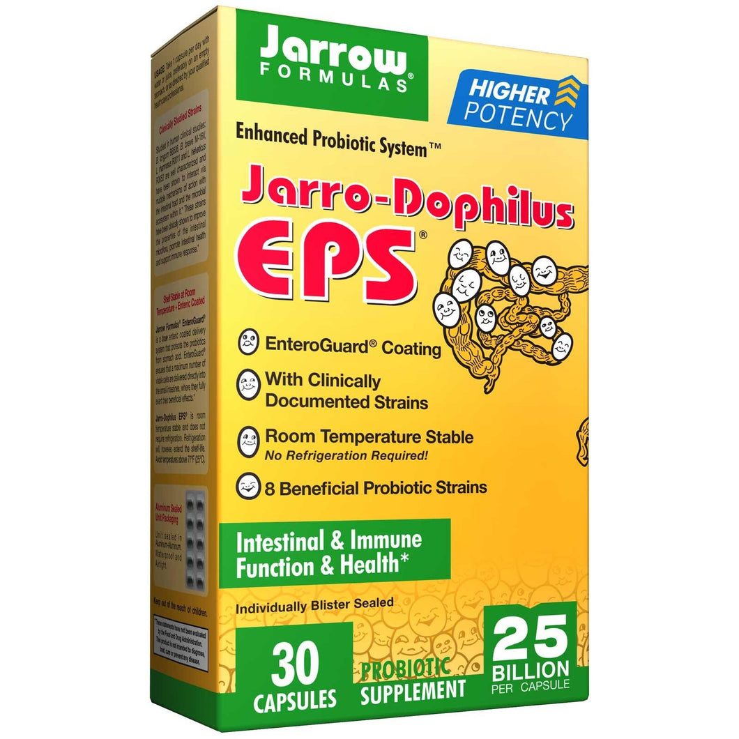 Jarrow Formulas, Jarrow-Dophilus EPS, Enhanced Probiotic System, 30 Capsules
