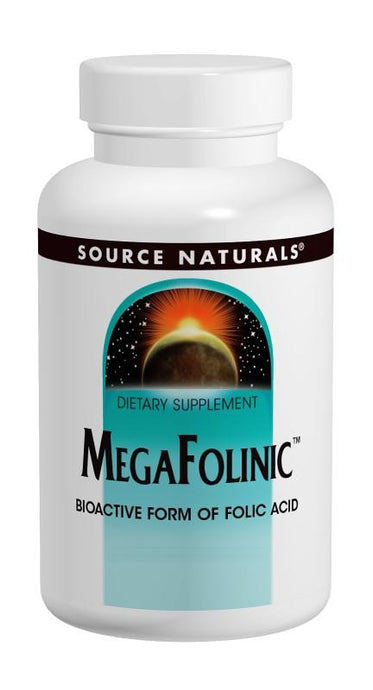 Source Naturals Megafolinic 800mcg 120 Tablets - Dietary Supplement