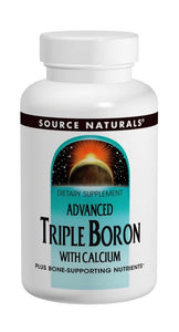 Source Naturals Advanced Triple Boron with Calcium 200 Capsules