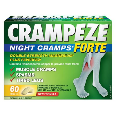 Natralia Health & Wellbeing, Crampeze Forte, Night Cramps, 60 Tablets