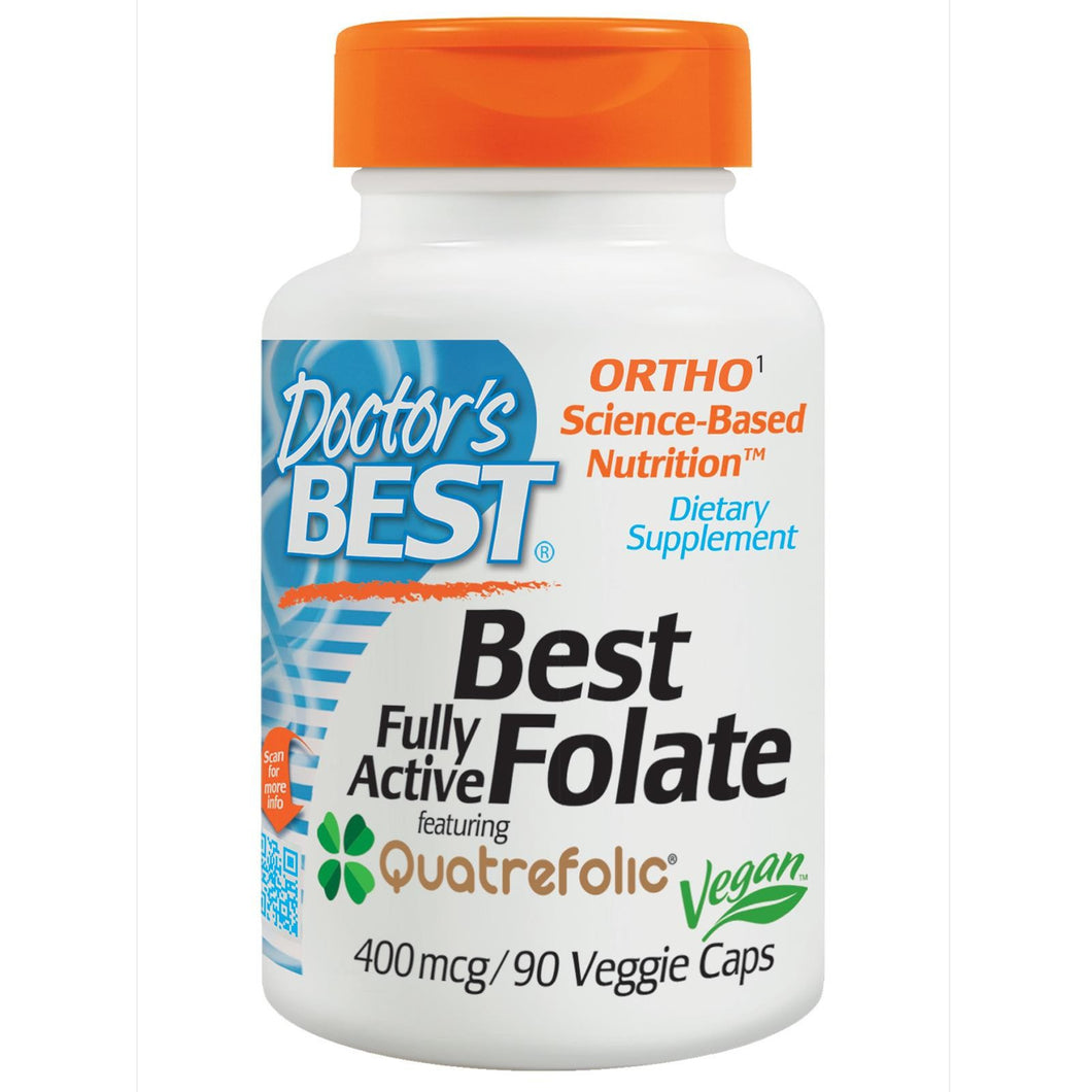 Doctor's Best Best Folate Fully Active Featuring Quatrefolic 400mcg 90 VCaps