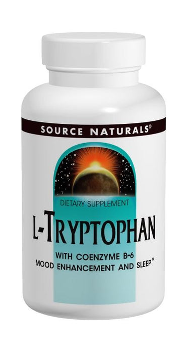 Source Naturals L-Tryptophan with Coenzyme B-6 500 mg 60 Tablets