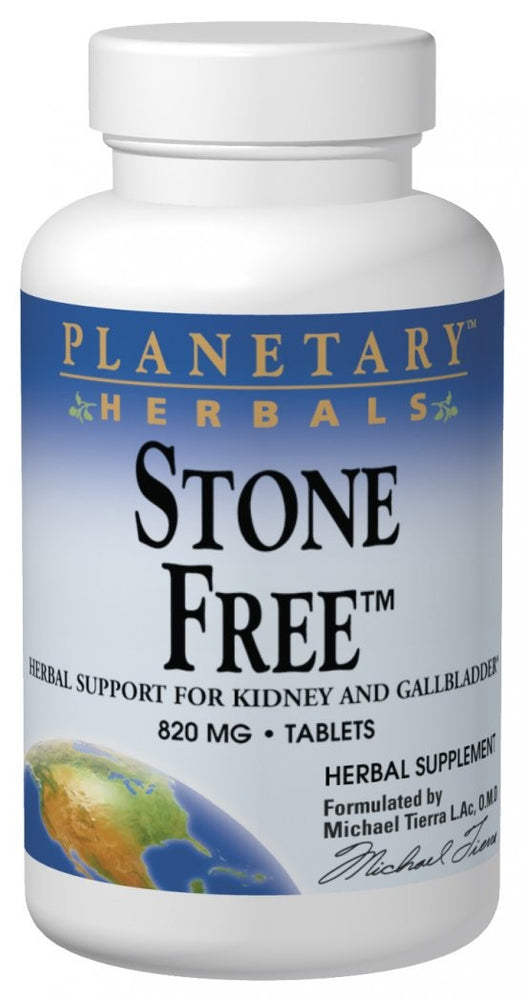 Planetary Herbals Stone Free 820mg 90 Tablets - Herbal Supplement