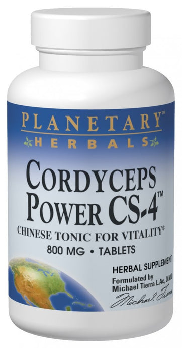 Planetary Herbals, Cordyceps Power CS-4, 800 mg, 60 Tablets