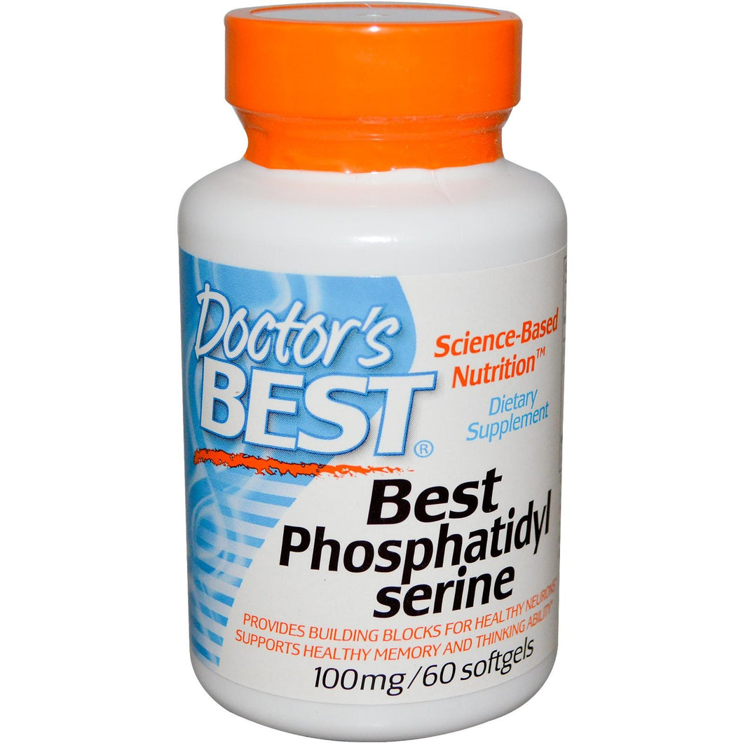 Doctor's Best, Best Phosphatidylserine, 100mg 60 Softgels