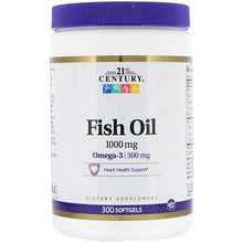 Load image into Gallery viewer, 21st Century, Fish Oil, 1,000 mg, 300 Softgels