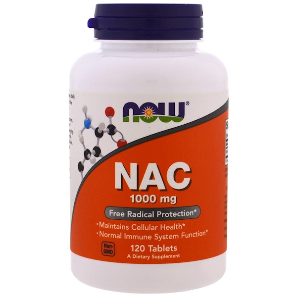 Now Foods NAC N-Acetyl Cysteine 1000 mg 120 Tablets