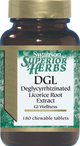 Swanson Superior Herbs - DGL Deglycyrrhizinated Licorice Root Sugar Free 180 Chewable Tablets