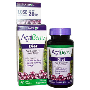 Natrol, Acai Berry Diet, Acai & Green Super Foods, 60 Fast Capsules