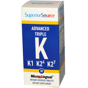 Superior Source, Advanced K, 30 MicroLingual Instant Dissolve Tablets