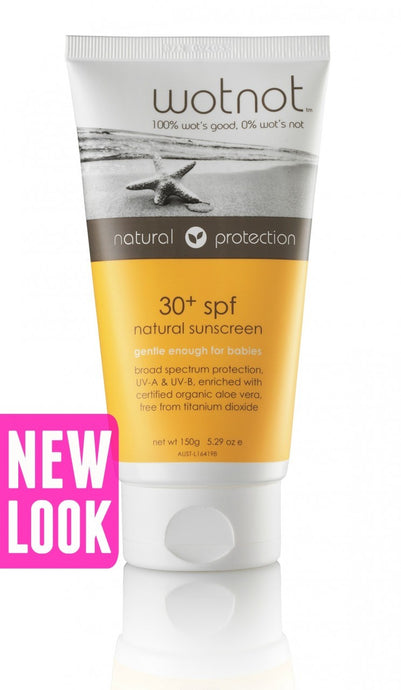 Wotnot, Natural Sunscreen, SPF 30 +, 150 g ... VOLUME DISCOUNT