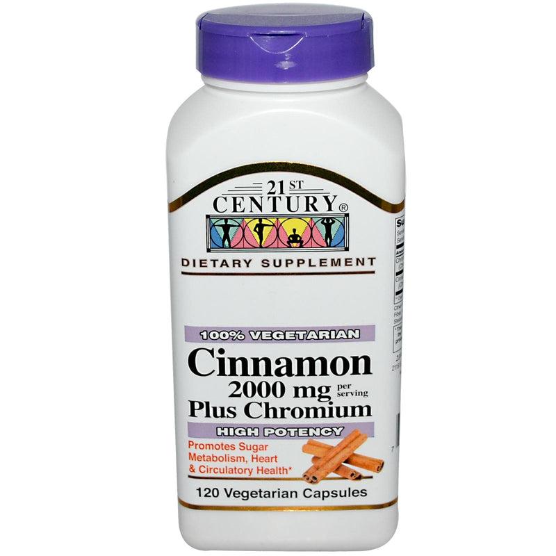 21st Century Health Care Cinnamon Plus Chromium 120 Veggie Capsules