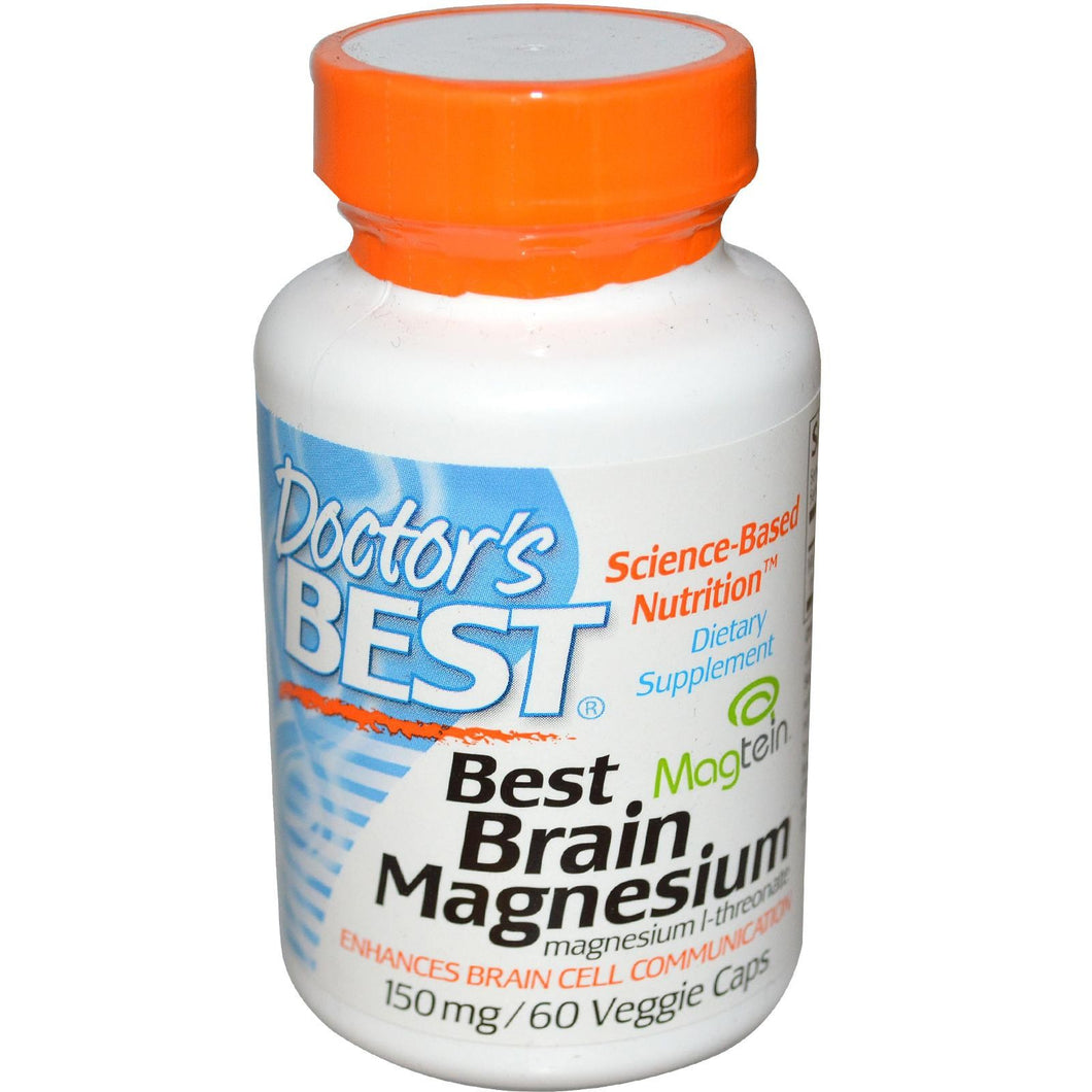 Doctor's Best Best Brain Magnesium 75 mg  60 VCaps - Dietary Supplement