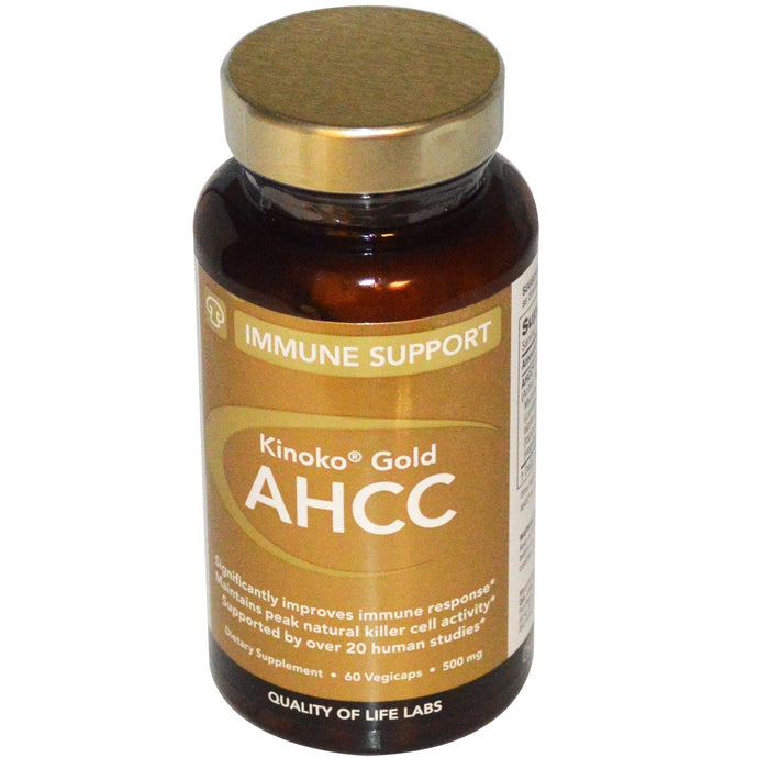 Quality of Life Labs Kinoko Gold AHCC Immune Support 500 mg 60 Veggie Capsules