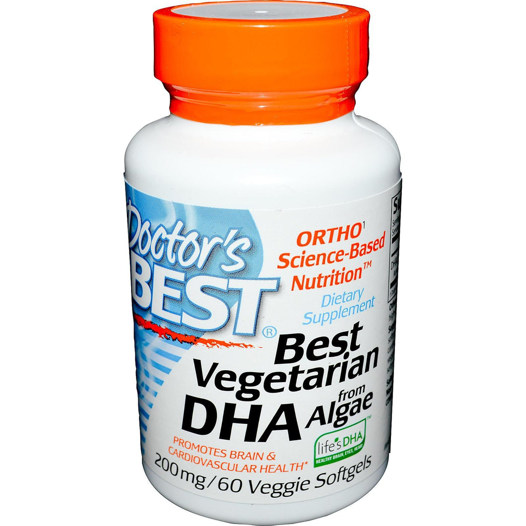 Doctor's Best Best Vegetarian DHA From Algae, 200mg, 60 SoftGels