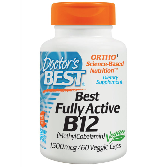 Doctor's Best Fully Active B12 1500mcg 60 Veggie Caps