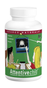 Source Naturals Attentive Child  60 Tablets - Dietary Supplement