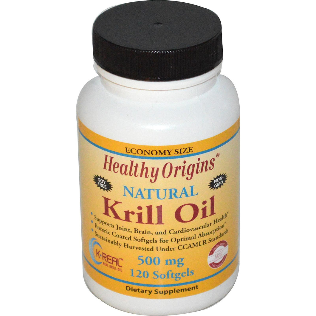 Healthy Origins Krill Oil Natural Vanilla Flavour 500mg 120 Soft Gels