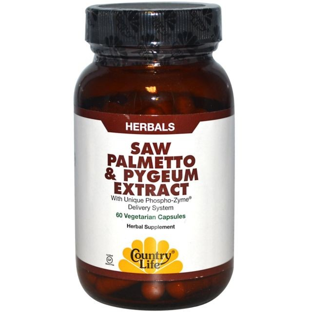 Country Life, Gluten Free, Saw Palmetto & Pygeum, 90 Veggie Capsules